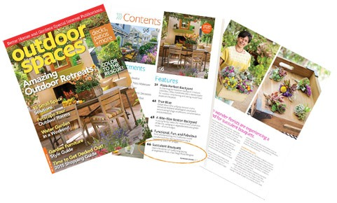 Urban Succulents Featured in Better Homes and Gardens Magazine