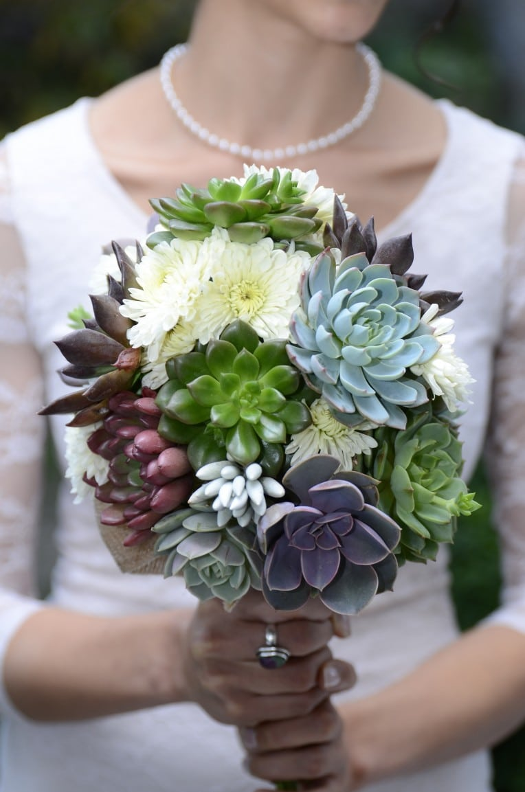 Purple Succulent Bouquet For Yukari Urban Succulents