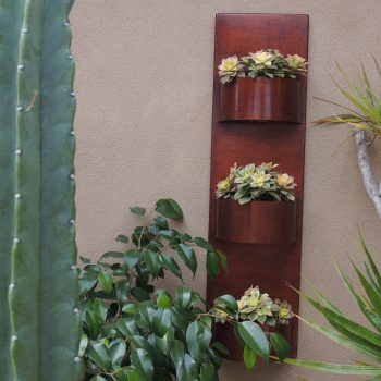 metal wall planter vertical