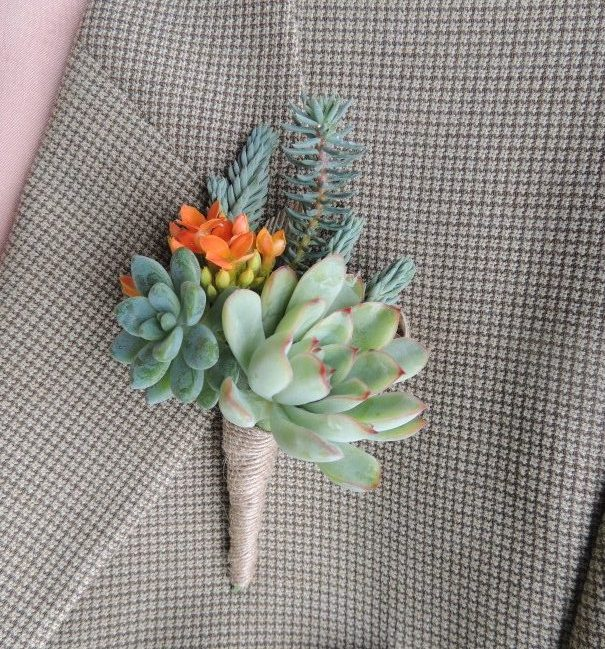 boutonniere with orange bloom