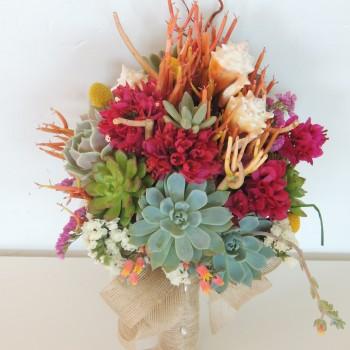 succulent-bouquet-shells-bouganbileas_1274