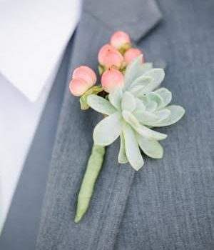 Wedding Boutonniere Pink (Lisa)
