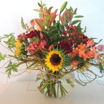 Fresh Flower Arrangement With Proteas