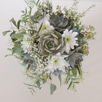 Succulent Bouquet with eucalyptus- Astrid
