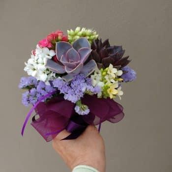"""Succulent Bouquet """"Kathi""""- Prom Posy"""