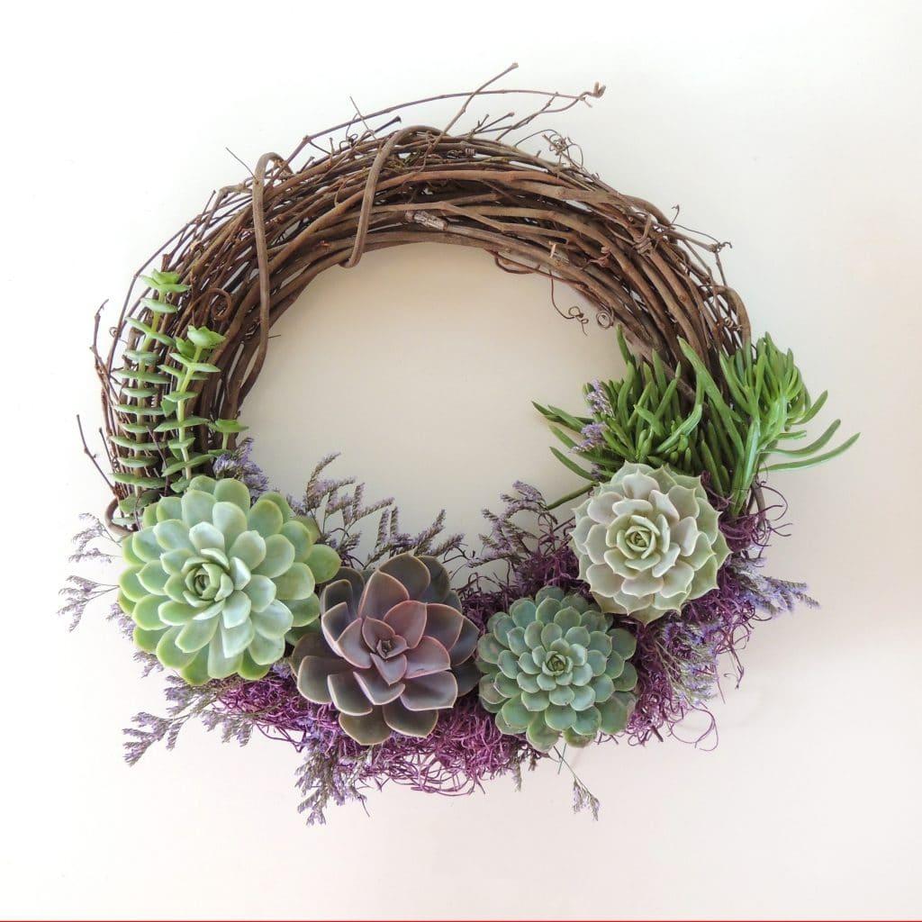Special Occasion Succulent Wreath Urban Succulents