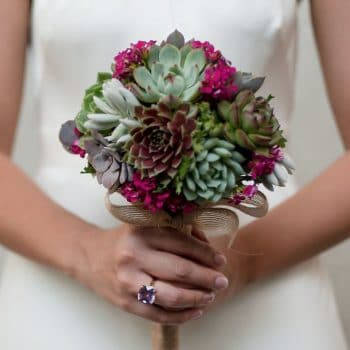 "Succulent Bouquet ""Rocio"" and boutonniere"