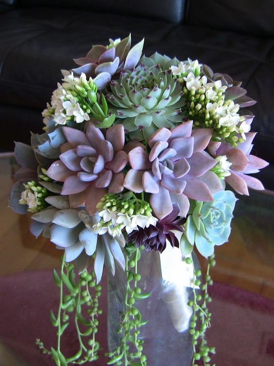 Purple green bouuquet