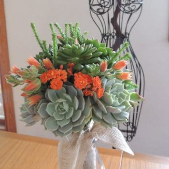 Succulent Wedding Bouquet for Liz