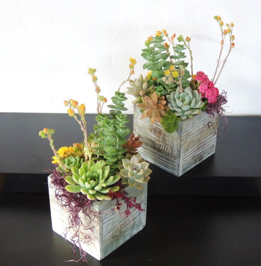 Flower Gift Box Cake