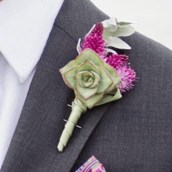 Prom Boutonniere Crassula Succulent