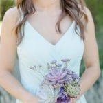 Succulent bouquet for bridesmaids.
