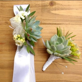 Set of Two Corsages and two boutonnieres to match Jessica's order