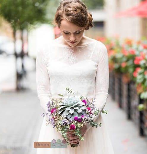 Wedding Flowers By Annette: Succulent Bouquet