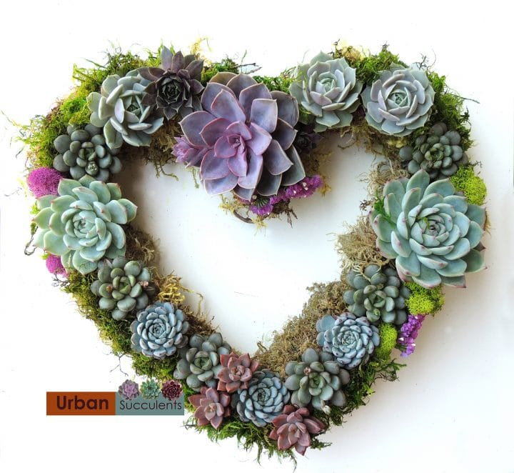 Heart shape wreath.