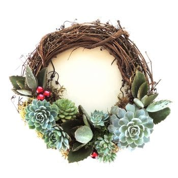 Succulent Wreath Crescent